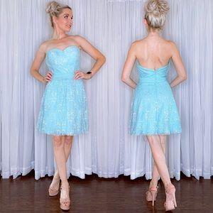 Blue Cinderella Inspired Fit Flair Dress